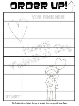 Valentine's Day Word Scramble - Order Up!
