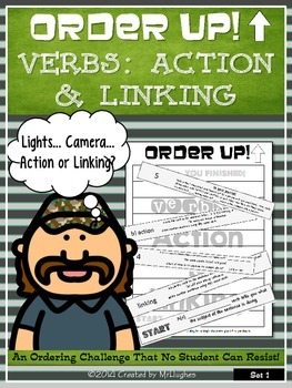 Action and Linking Verbs - Order Up!