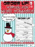 Winter Fun Word Scramble - Order Up!