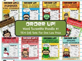 Word Scramble Order Up! MEGA BUNDLE #1