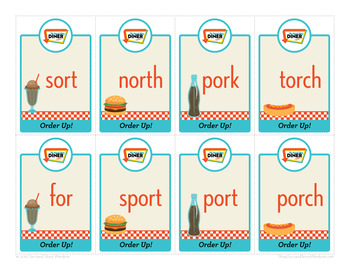 Order Up! short o, CVCe o, or Phonics Game - Words Their Way Game