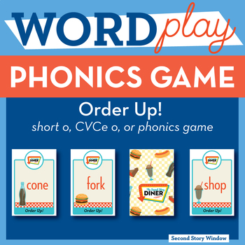 Order Up! short o, CVCe o, or Phonics Game