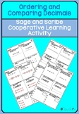 Order and Compare Decimal Numbers Sage and Scribe Cooperat