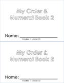Order and Numeral Booklet 2