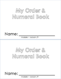 Order and Numeral Booklet