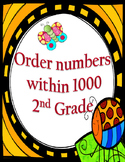 Order and compare numbers up to 1000: Puzzle, worksheets a