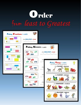 Order:  from Least to Greatest