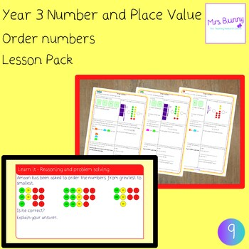 Order numbers lesson pack (Year 3 Number and Place Value) - UK