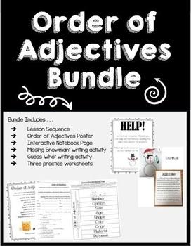 Order of Adjectives Bundle