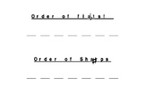 Order of Flats (b) and Sharps (#) Handout