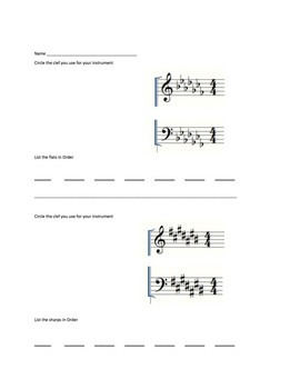 Order of Key Signatures with Video