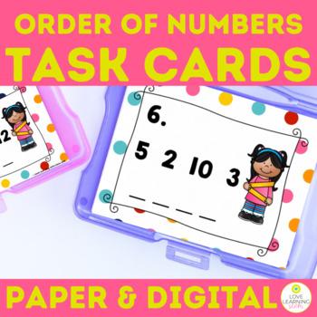 Order of Numbers - Number Sense Task Cards FREE Sample