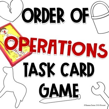 Order of OPERATIONS Task Card Game