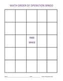 Order of Operation: Bingo, Match, and Rotation Activities
