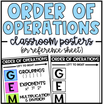 Order of Operation - GEMS Posters