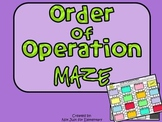 Order of Operation Maze (without Exponents)