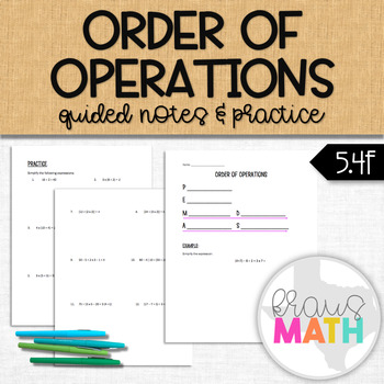 Order of Operation Guided Notes & Practice