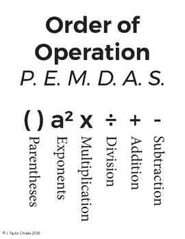 Order of Operation - PEMDAS