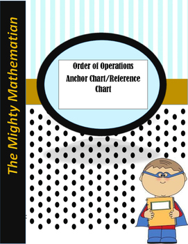 Order of Operation- PEMDAS Anchor Flow Chart