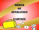 Order of Operation (PEMDAS) Yahtzee