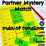 Order of Operation (w/integers & square roots) Partner Mys