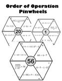 Order of Operation Pinwheels Activity