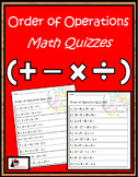 Order of Operation Quizzes