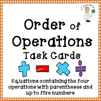 Order of Operation Task Cards Set 2