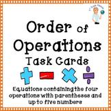 Order of Operation Task Cards Set 2