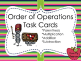 Order of Operation Task Cards (Ants)