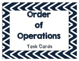 Order of Operation Task Cards (VA SOL Math 5.7)