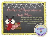 Order of Operation Unit with Game, Partner, Coloring Fun Activity