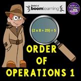 Order of Operations 1 Digital Boom Cards using parenthesis grade 5