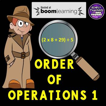 Order of Operations 1 Digital Boom Cards using parenthesis grade 5