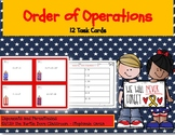 Order of Operations 12 Task Cards Memorial Day / Veterans Day