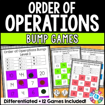 Order of Operations Games: 12 Differentiated Order of Operations Bump Games