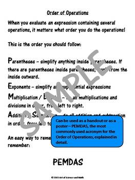 Order of Operations PEMDAS - High School Math