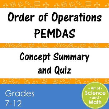 Order of Operations PEMDAS - High School Math