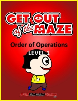Order of Operations Maze (No Exponents & No parentheses/brackets) FREE