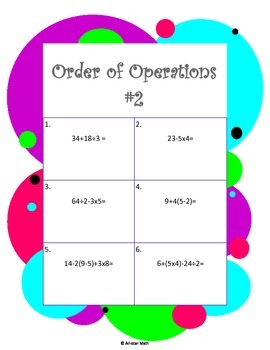 Order of Operations #2