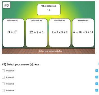 Order of Operations – 2 Google Form Activities – Perfect for Google Classroom