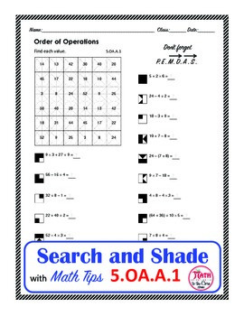 Order of Operations Color Search and Shade