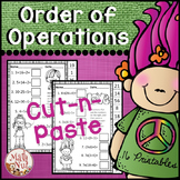 "Order of Operations Worksheets ""Troll Theme"""