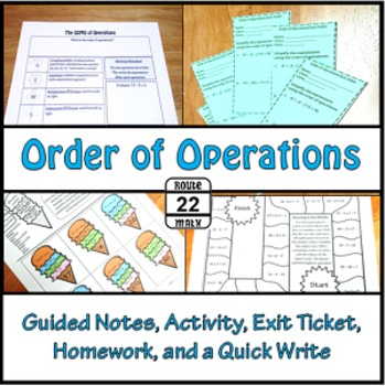 Order of Operations Notes and Activity