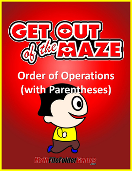 Order of Operations Mazes WITH Parentheses/Brackets (Fun Worksheets)
