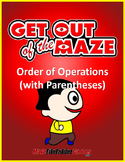 Order of Operations Mazes WITH Parentheses/Brackets (Fun W