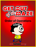 Order of Operations Mazes (No Exponents & No parentheses/brackets)