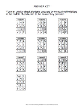 Order of Operations Puzzles