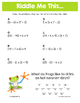Summer Order of Operations Math Riddles