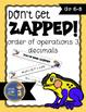 Order of Operations 3 Decimals ZAP Math Game